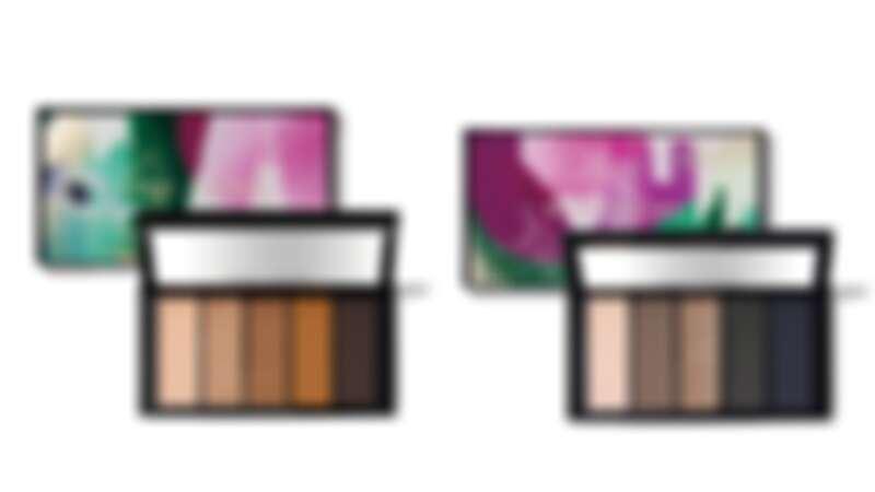 左:紐約夕陽焦糖 5色眼彩盤、右:紐約夜幕藍靛 5色眼彩盤