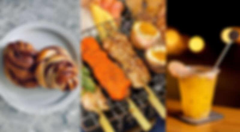 (左圖) Twist n Roll 法式肉桂捲實驗室、(中圖)崧匠 焼き鳥屋台、(右圖) 沐 雞尾酒