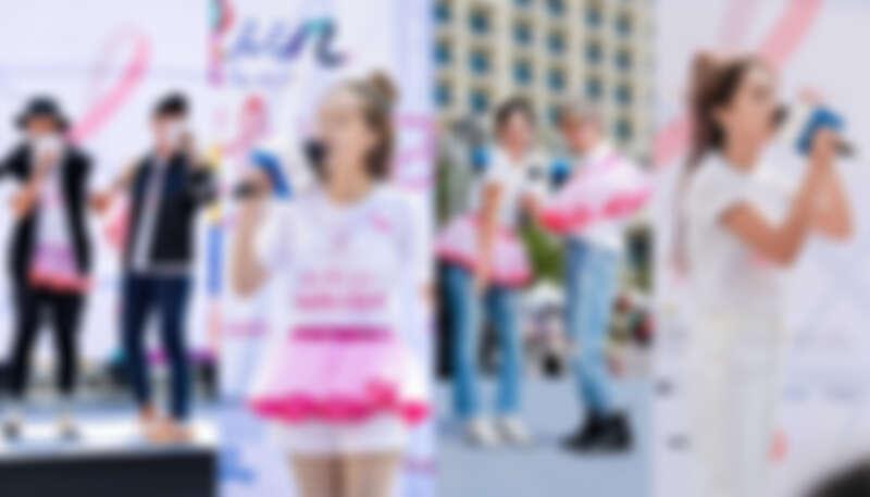 左起Fun Ones翻玩樂團、王敏淳、晨悠組合、呂薔帶來一連串歌曲炒熱舞台