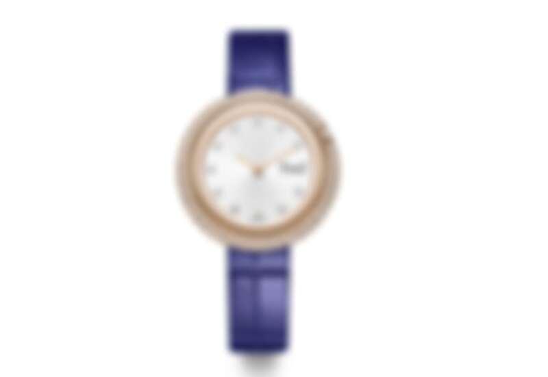 PIAGET Possession系列18K玫瑰金鑽石腕錶(34毫米)。