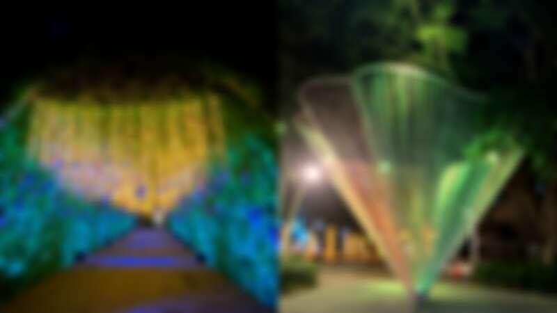 府中美學藝術特區「森林裡的極光」、「花漾」實拍