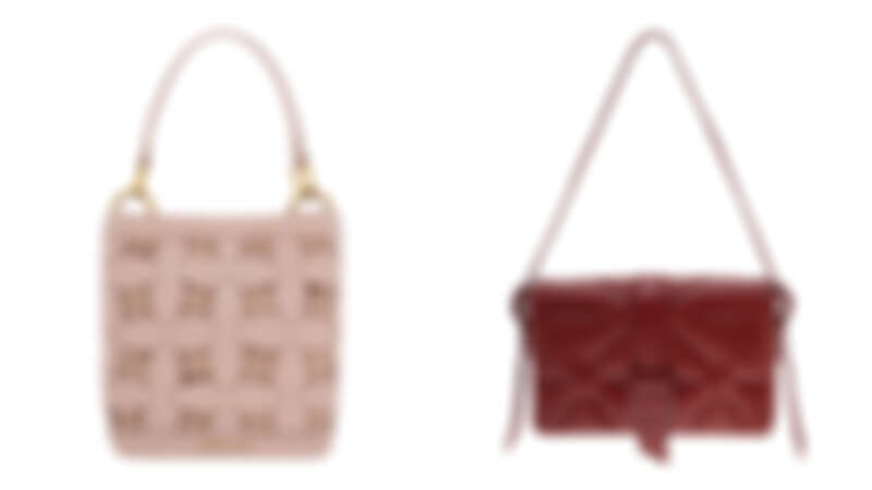 編織手提水桶包,NT2,590、酒紅壓紋肩背包,NT1,790