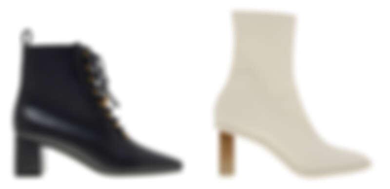 金屬綁帶中跟靴,NT2,490、方形粗跟短靴,NT2,490