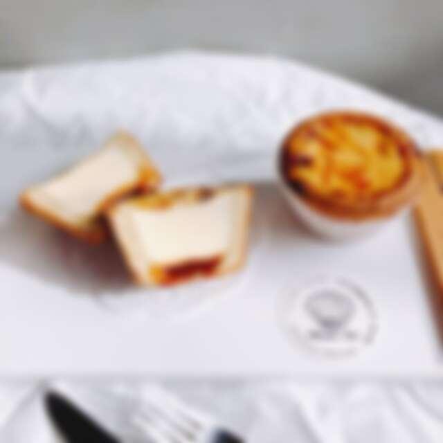 誠品生活耶誕市集 克莉斯塔 焦糖佐海鹽蛋塔 推薦價65元。