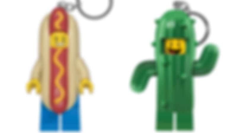 誠品書店 「LEGO鑰匙圈燈」系列 特價357元 原價420元。