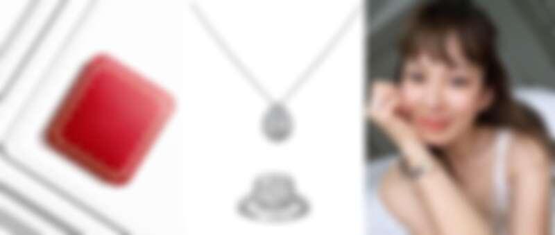 Melody配戴Cartier Destinée鑽石系列項鍊/戒指