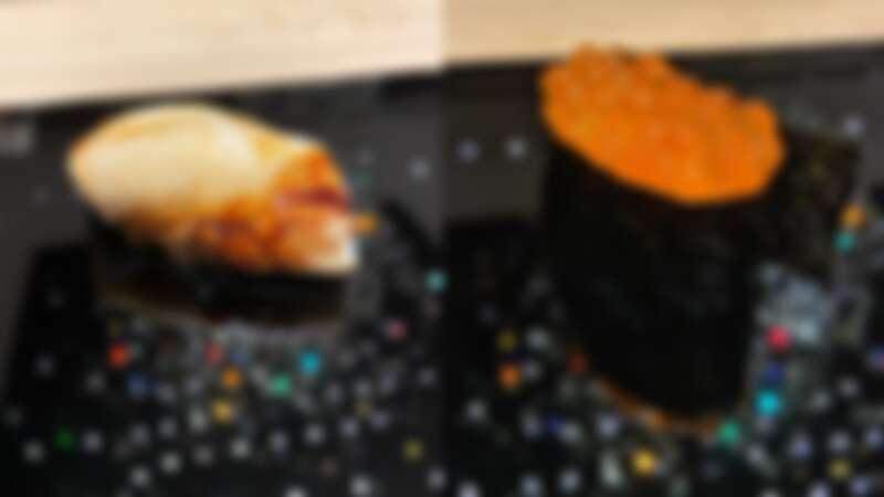 「鮨增田 台北」水晶吊燈倒影為壽司增色