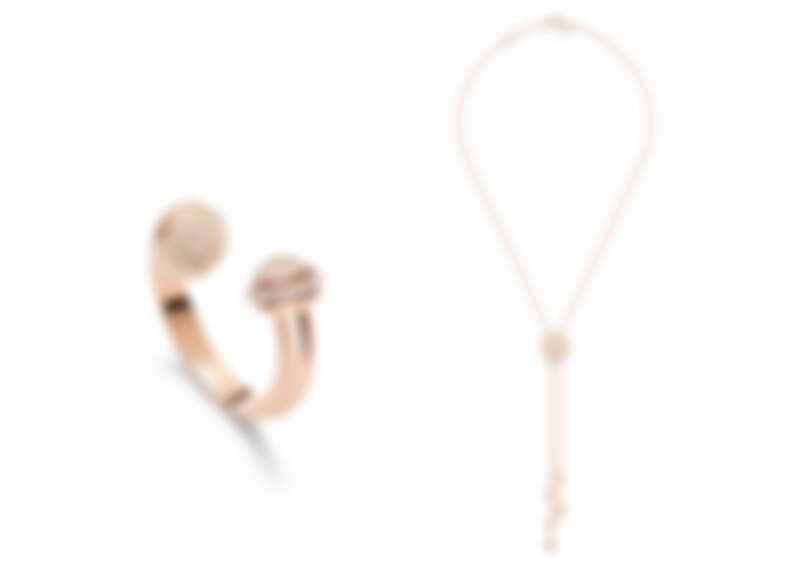 PIAGET Possession系列18K玫瑰金鑽石戒指、PIAGET Possession系列18K玫瑰金鑽石墜鍊