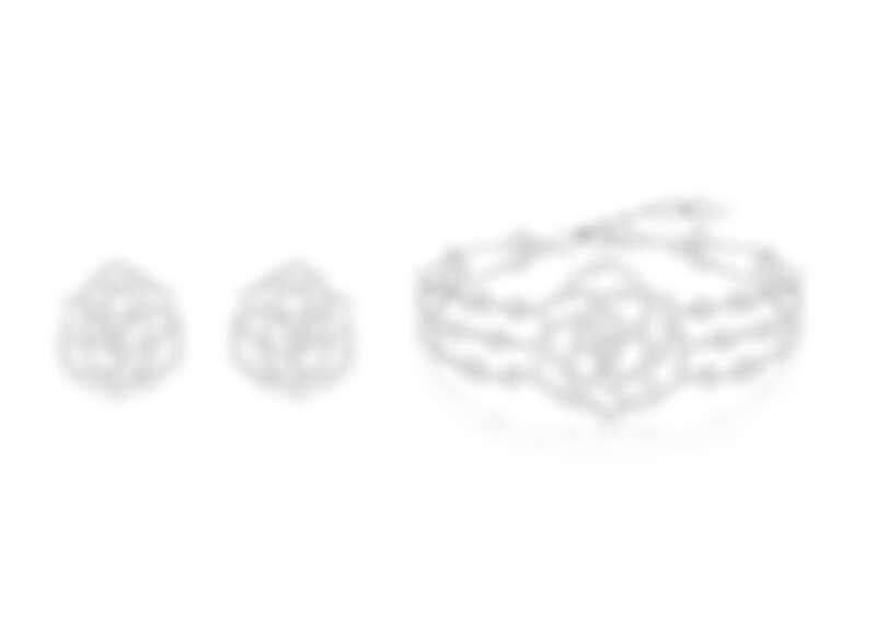 PIAGET Rose系列18K白金鏤空玫瑰鑽石手鍊、PIAGET Rose系列18K白金鏤空玫瑰鑽石耳環
