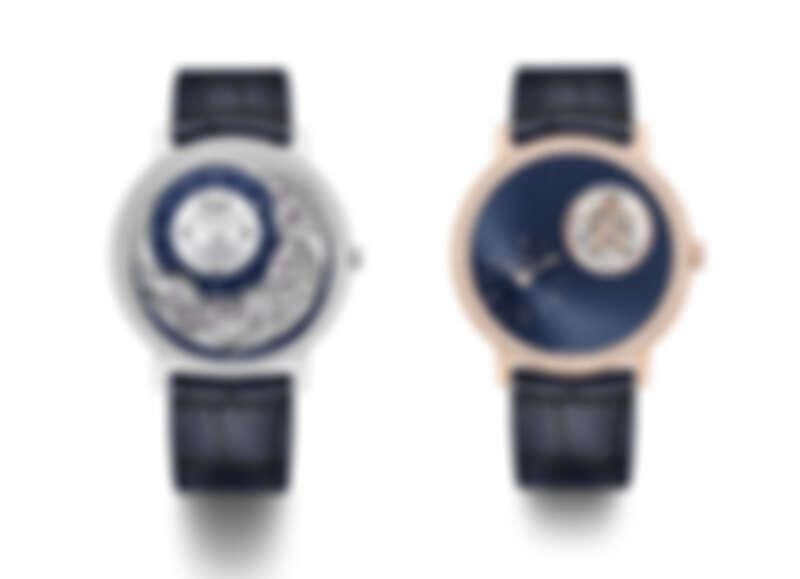 PIAGET Altiplano Ultimate Automatic 910P 18K白金超薄自動上鍊鑽石腕錶、PIAGET Altiplano系列藍色漆面錶盤飛行陀飛輪限量款鑲鑽腕錶