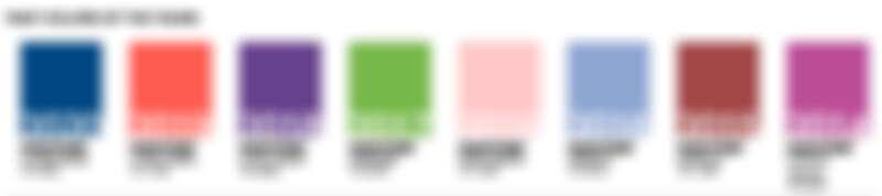 2014~2020各年Pantone年度代表色