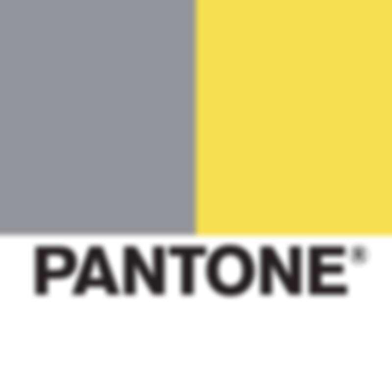Pantone 2021年度代表色極致灰(左)、亮麗黃(右)