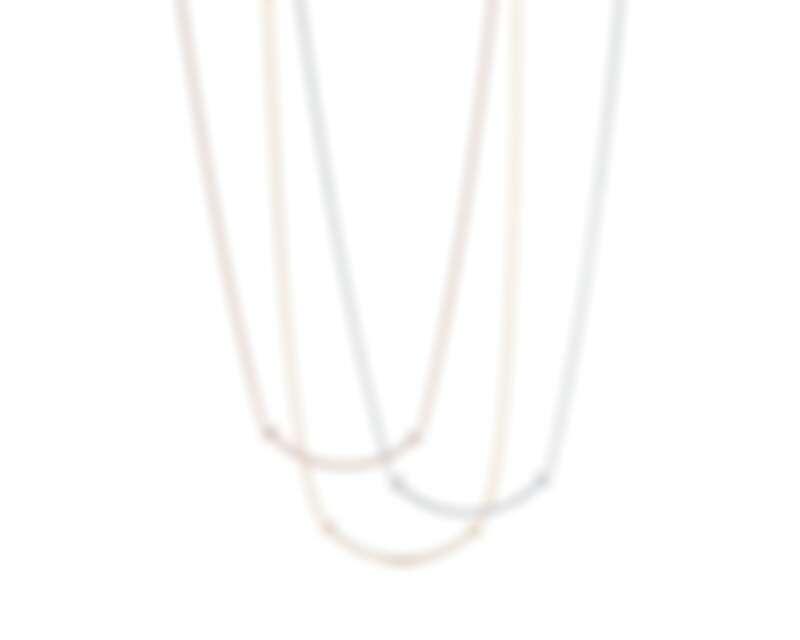 Tiffany & Co. Tiffany T Smile鑲鑽項鍊小型款,售價NT81,000