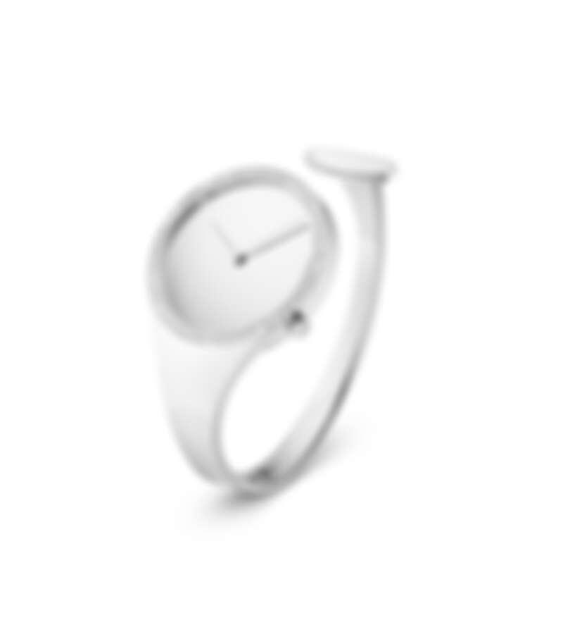 Georg Jensen 喬治傑生 Vivianna系列手鐲手錶,錶徑34 mm,精鋼鑲嵌鑽石,售價NT110,500