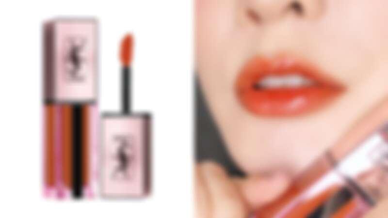 YSL奢華緞面高光唇釉#214冰晶琥珀