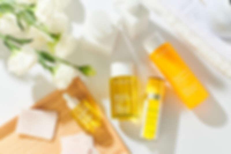 蘭花面部護理油,30ml NT1,850、身體舒爽護理油,100ml,NT2,300、蘭花純萃賦活乳,35ml, NT2,450、芳香調和沐浴精,200ml,NT1,000。