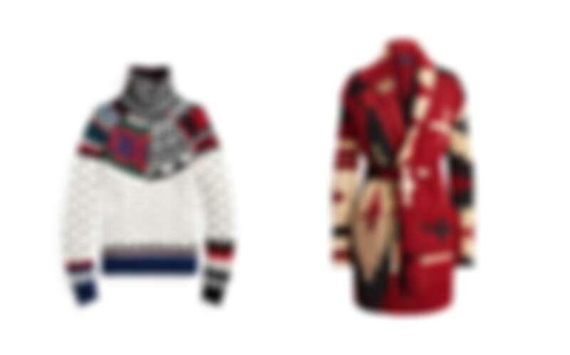 Polo Ralph Lauren圖騰針織毛衣NT22,480、Polo Ralph Lauren 圖騰針織外套NT44,880