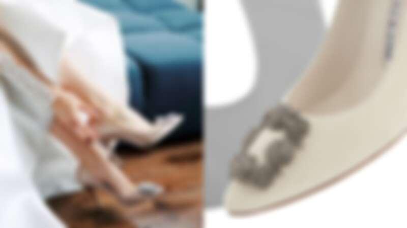 Manolo Blahnik 花鑽高跟鞋