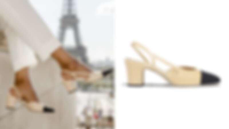 Chanel經典雙色鞋