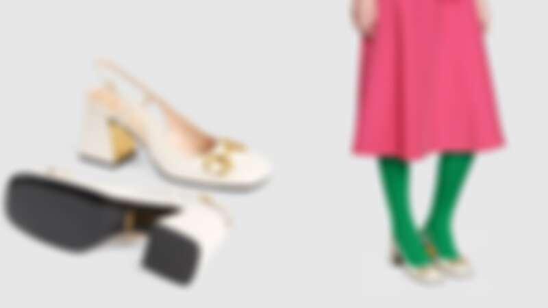Gucci 馬銜鍊方頭跟鞋