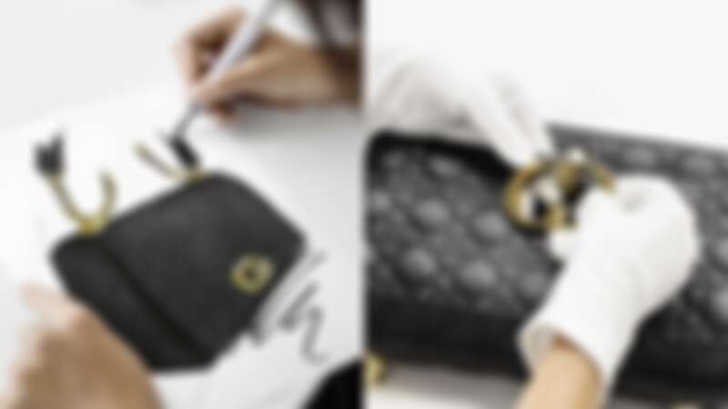 Dior Caro鏈帶翻蓋包細節