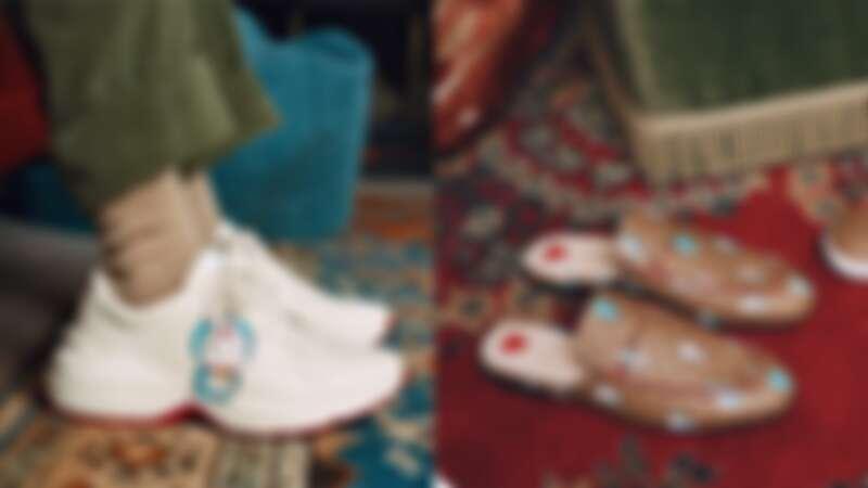 Gucci X 哆啦A夢聯名系列老爹鞋、穆勒鞋
