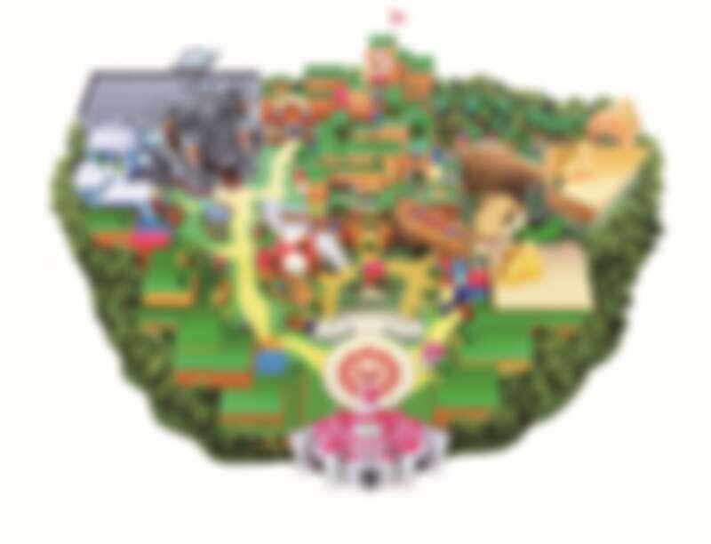 「超級任天堂世界Super Nintendo World」園區圖,Photo/日本環球影城 ©Nintendo