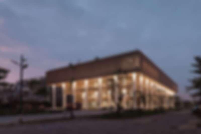 台南市立圖書館夜景