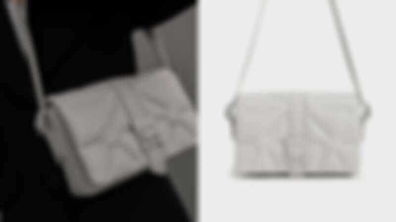 Charles & Keith幾何衍縫肩背包