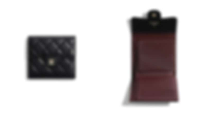 Chanel菱格紋小黑皮夾,NT28,000