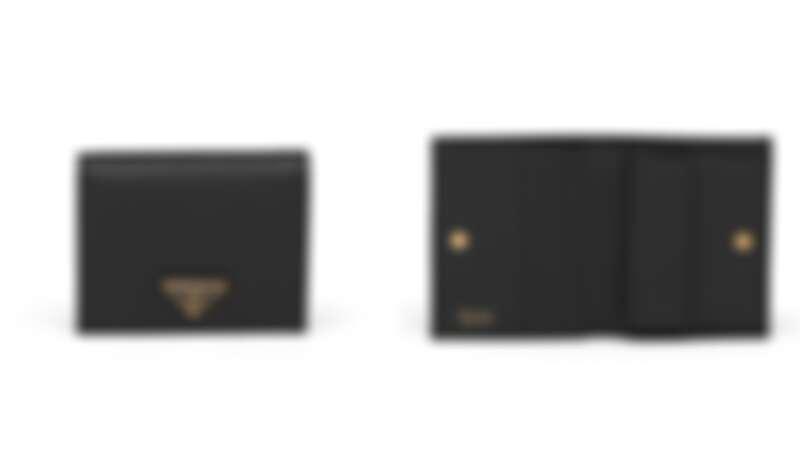 Prada鐵牌短夾,NT14,500