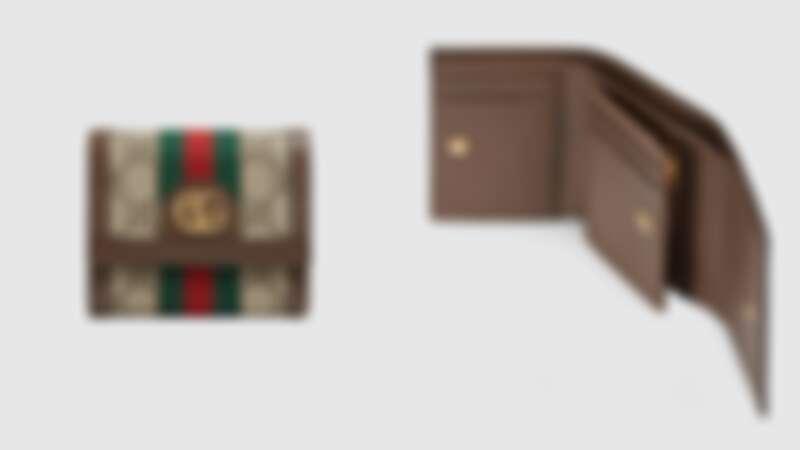 Gucci三折短夾,約NT19,000