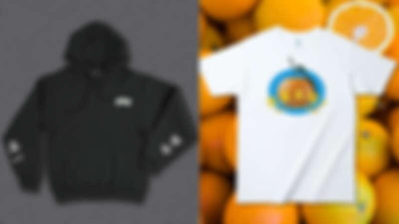 誠品生活南西「新春設計市集」烏諾設計 新年麻將必勝落肩帽T(黑),790元;醜物店 大吉大利T-shirt,600元。