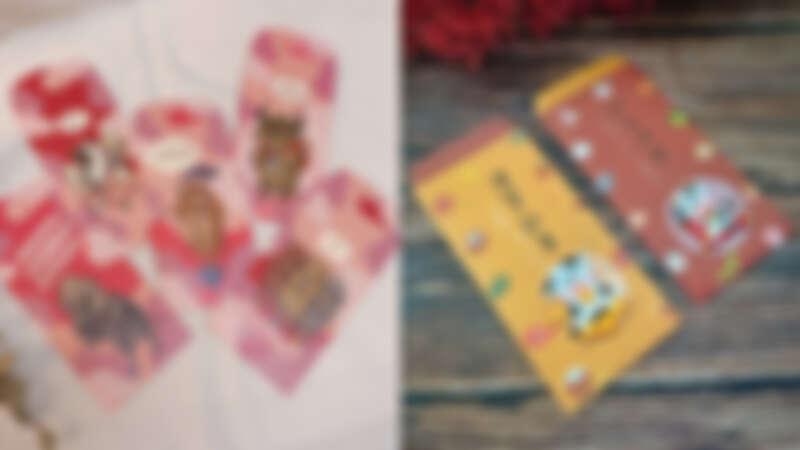 誠品生活expo|針線球 牛年紅包袋,120元;Littdlework 刺繡燙貼新春紅包袋,160元。