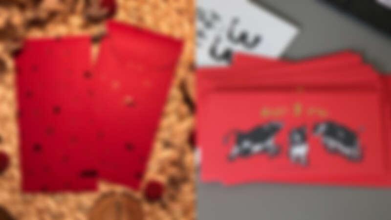 誠品生活expo|KerKerland 牛年快樂紅包袋 推薦價168元;郭公館工作室 Happy牛year燙金紅包袋,推薦價88元。