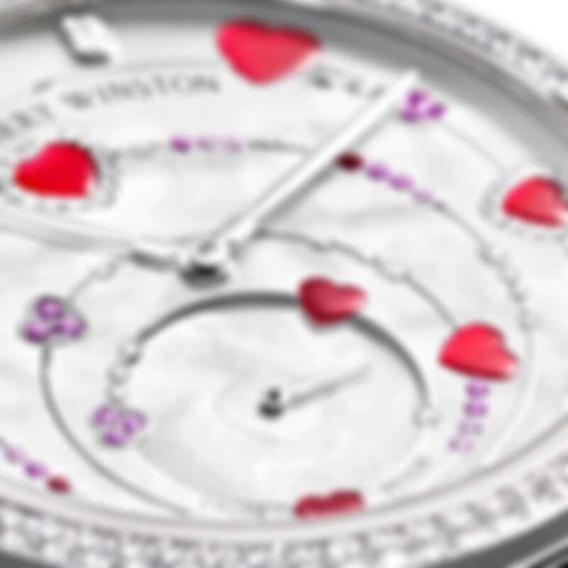 海瑞溫斯頓Midnight系列Valentine's Dance白金款腕錶