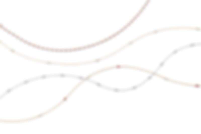 (由上至下) Tiffany Elsa Peretti 系列 - Diamonds by the Yard 18K玫瑰金鑽石項鍊 價格店洽, 18K金鑽石項鍊 NT$174,000, 鉑金鑽石項鍊 NT$710,000, Color by the Yard 18K金紅寶石項鍊 NT$381,000