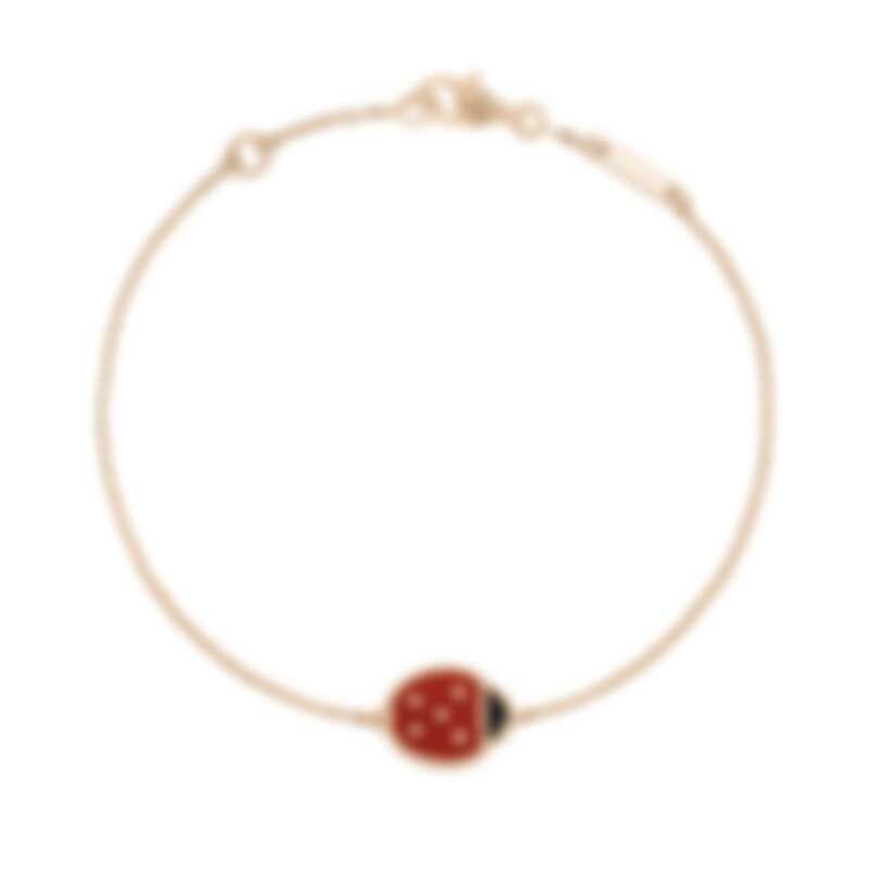 Van Cleef & Arpels (VCA) 梵克雅寶 Lucky Spring手鍊,玫瑰金,紅玉髓,縞瑪瑙,建議售價約78,000元