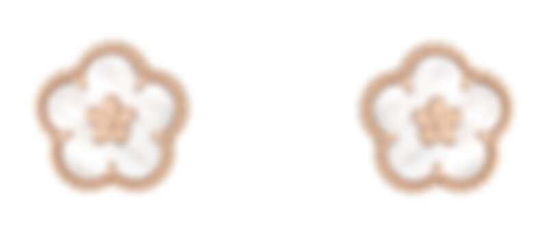 Van Cleef & Arpels (VCA) 梵克雅寶 Lucky Spring耳環,梅花造型,玫瑰金,白色珍珠母貝,建議售價約128,000元