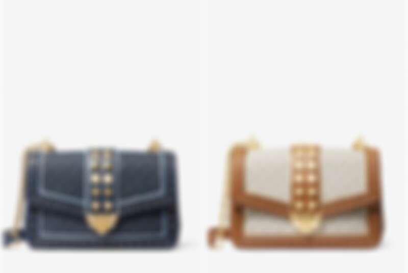 SoHo Large Studded Logo Shoulder Bag,售價NT$19,400