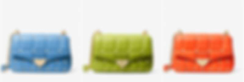 SoHo Large Studded Quilted Leather Shoulder Bag,售價NT$21,000