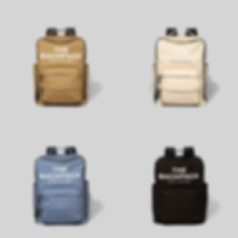 Marc Jacob The Backpack積木後背包(黑/奶油白/海洋藍/卡其褐),售價NT$10,900