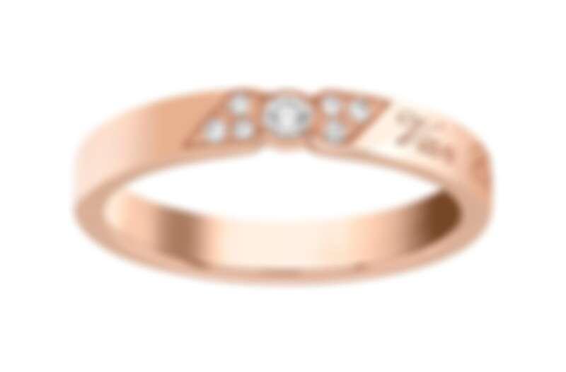 Van Cleef & Arpels - Signature Etoiles婚戒(玫瑰金,圓形鑽石,43米) 售價店洽