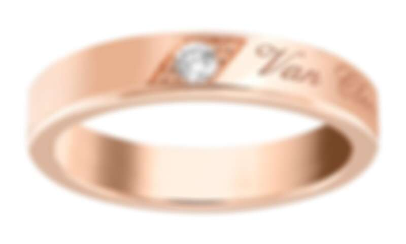 Van Cleef & Arpels - Signature Etoiles婚戒(玫瑰金,圓形鑽石,4毫米) 售價店洽