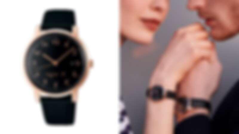 Agnes.b 經典手寫時標marcello超薄對錶,NT9,500