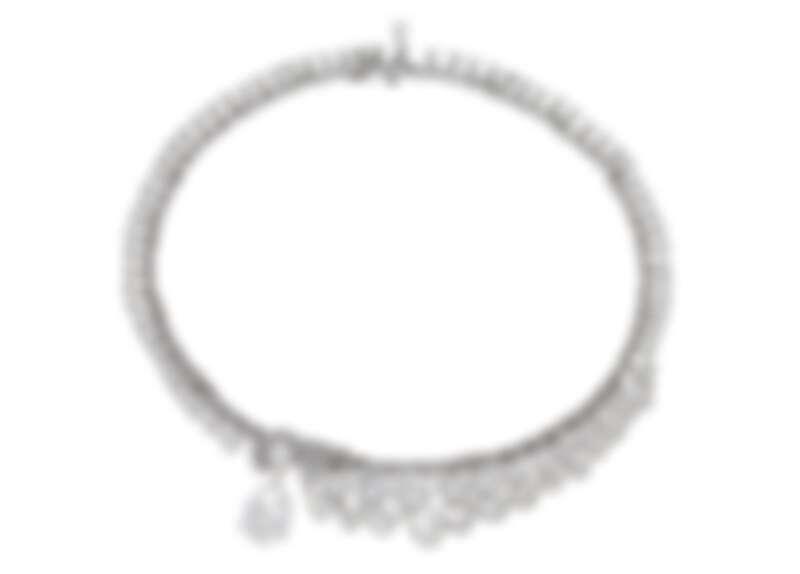 BVLGARI BARCOKO系列頂級鑽石項鍊 頂級鉑金項鍊,鑲嵌1顆水滴形切割鑽石(E VVS1重約10.01克拉)、12顆梨形切割與圓形切割鑽石(D-F VVS1-VS2總重約20.65克拉)、11顆梨形切割鑽石(E-G VVS-VS總重約6.04克拉)、64顆圓形切割鑽石(E-G VVS-VS總重約18.13克拉)、110顆階梯形切割鑽石(F-G VVS-VS總重約4.48克拉)與密鑲鑽石(D-F IF-VVS總重約5.66克拉)