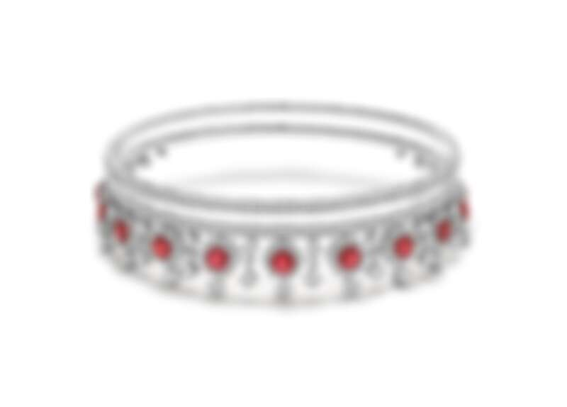 BVLGARI BAROCKO系列頂級紅寶石與鑽石項鍊 頂級鉑金項鍊,鑲嵌11顆紅寶石(總重約18.27克拉)、55顆圓形明亮切割鑽石與密鑲鑽石(D-F IF-VVS,總重約44.68克拉)。