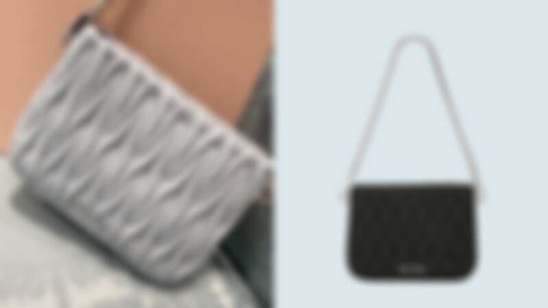 Miu Sassy皮革肩背包,NT61,000
