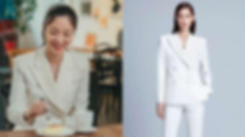 Jaybaek白色西裝外套,約NT50,000