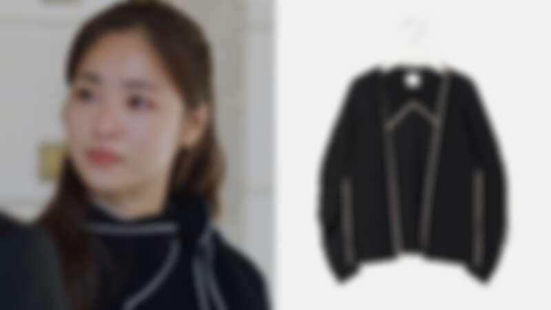 KUHO圍巾針織套衫,約NT12,000